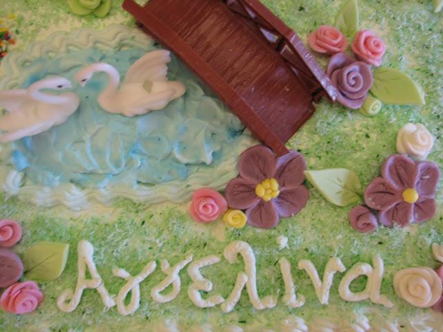 τούρτα γενεθλίων η λίμνη των κύκνων
