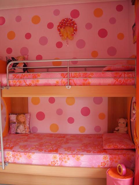 Διακόσμηση παιδικού δωματίου με κύκλους στον τοίχο που θα βάψεις μόνος σου