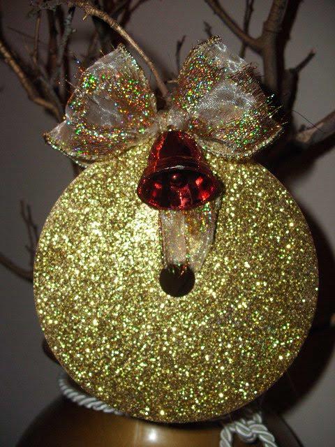 Χριστουγεννιάτικα στολίδια από cd κατασκευή
