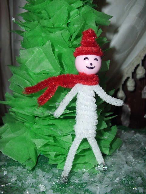 Χιονάνθρωπος από σύρμα πίπας.