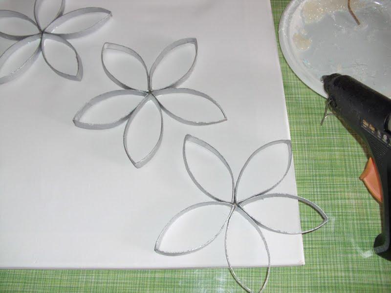 Κατασκευή με χάρτινα ρολά καλοκαιρινός πίνακας