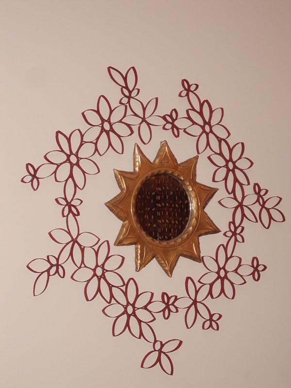 Φθινοπωρινό στεφάνι με ρολά χαρτιού