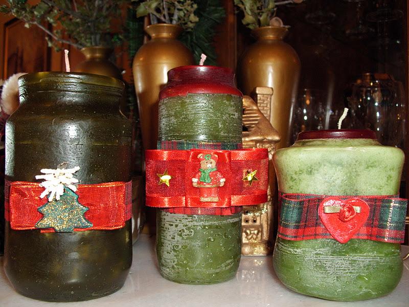 Ιδέες για χειροποίητα χριστουγεννιάτικα δώρα, κεριά