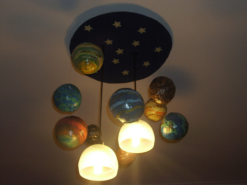 Κατασκευή πλανητών με μπαλόνια για το παιδικό δωμάτιο