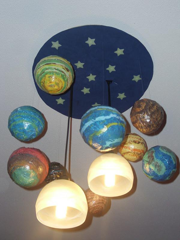 Κατασκευή πλανητών με μπαλόνια για καλούπια