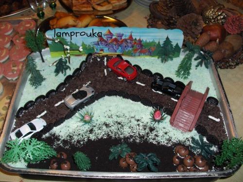 τούρτα γενεθλίων για αγόρια αυτοκινητόδρομος