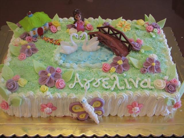 τούρτα η λίμνη των κύκνων