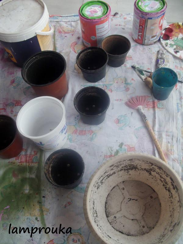 Πως να βάψεις γλάστρες