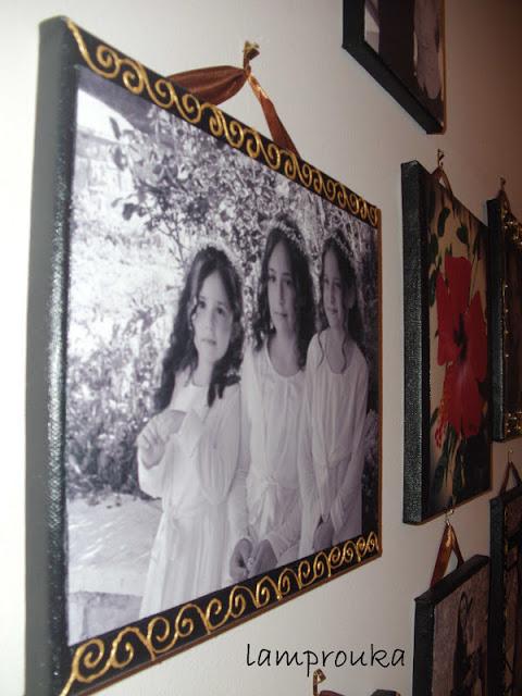Οδηγίες για να τοποθετήσεις πάνω σε παλιούς καμβάδες τις αγαπημένες σου φωτογραφίες