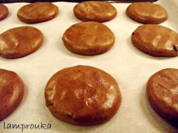 Σοκολατένια μπισκότα με σταγόνες σοκολάτας.