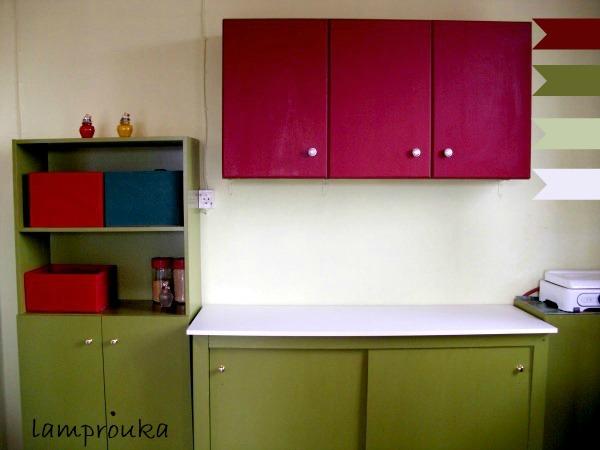 Βάψιμο ντουλαπών κουζίνας