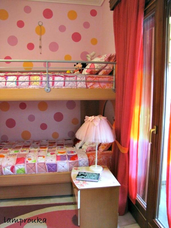 Κουρτίνες και παπλώματα στο παιδικό δωμάτιο για κορίτσια