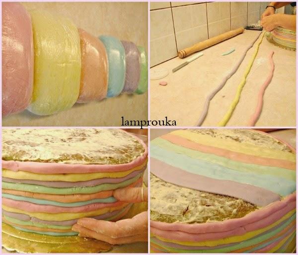 Πως να φτιάξεις μια τούρτα ουράνιο τόξο
