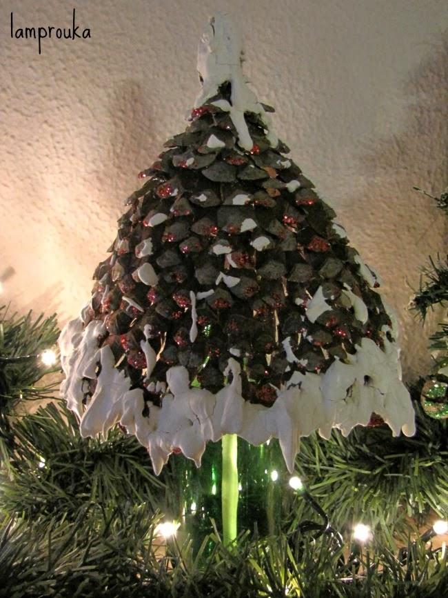 Χριστουγεννιάτικα εναλλακτικά δεντράκια και διακόσμηση τζακιού