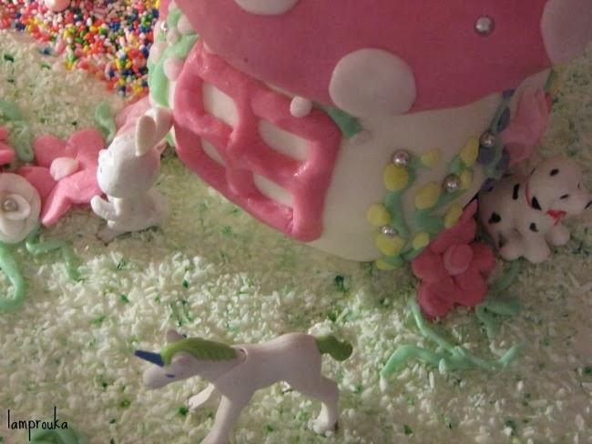 Διακόσμηση τούρτας για κορίτσια