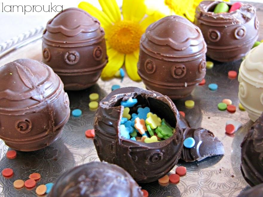Πως να φτιάξεις σοκολατένια αυγά.