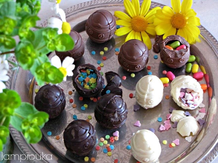 Σοκολατένια αυγά με έκπληξη και πως να τα φτιάξεις