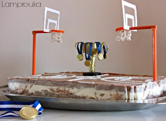 Τούρτα παγωτό μπάσκετ