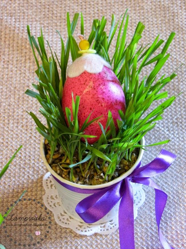 Πασχαλινή διακόσμηση με αυγά