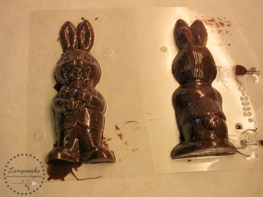 Φτιάχνουμε σοκολατένια κουνέλια