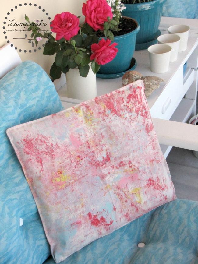 Ζωγραφική σε μαξιλάρι με αφρό ξυρίσματος