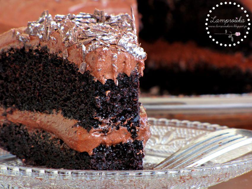 Ζουμερή τούρτα σοκολάτα