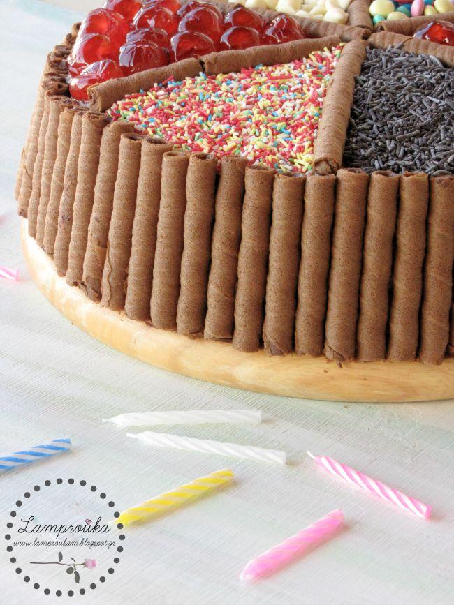 τούρτα με ζαχαρωτά