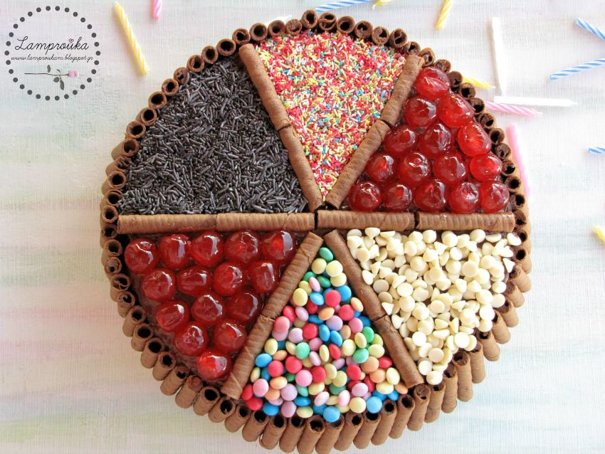 Τούρτα γενεθλίων candy με ζαχαρωτά