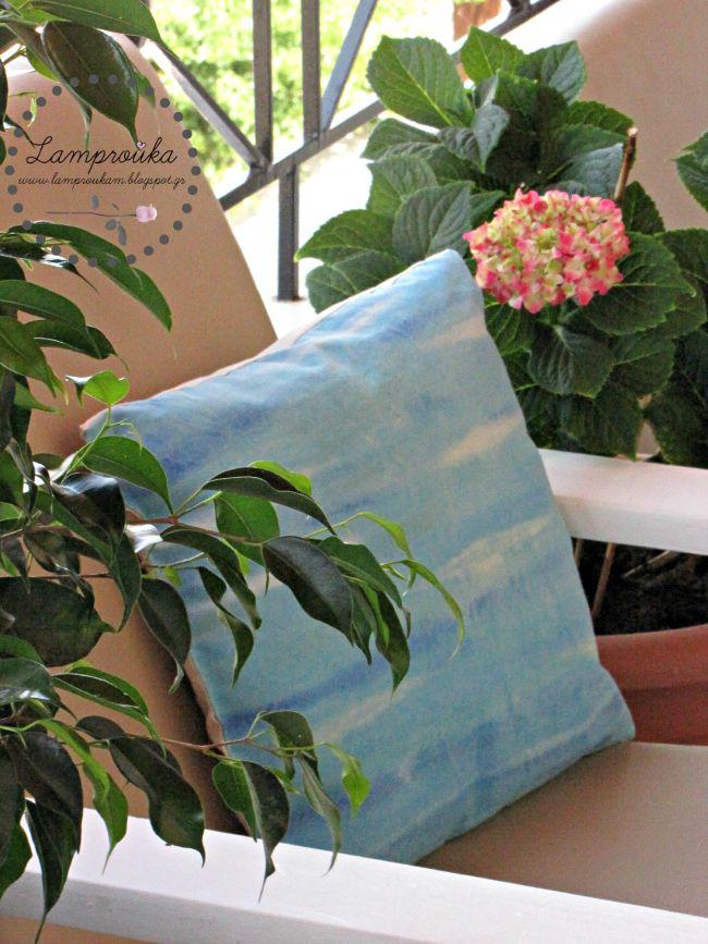 Ζωγραφική σε μαξιλάρια