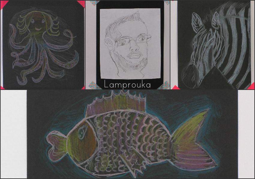 Ζωγραφιές και εικόνες στον τοίχο του παιδικού δωματίου