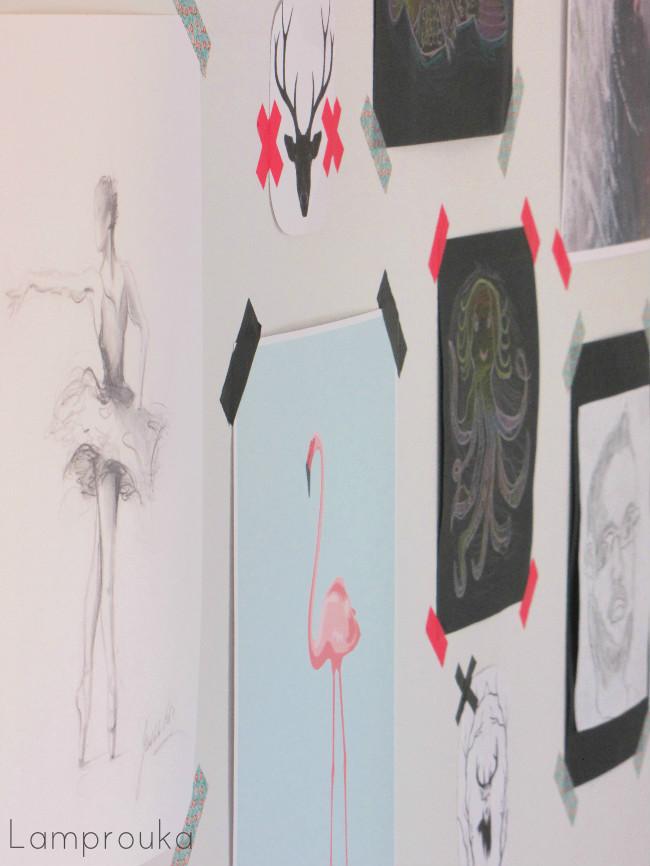 Ζωγραφιές και εικόνες στην διακόσμηση των τοίχων του παιδικού δωματίου