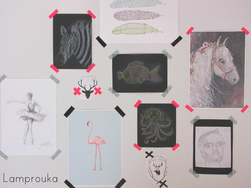 Διακόσμηση παιδικού δωματίου με ζωγραφιές και εικόνες