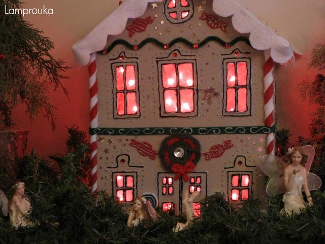 Κατασκευή χριστουγεννιάτικης πινιάτας σπιτάκι με φωτισμό.