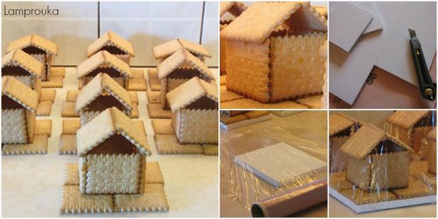Πως να φτιάξεις χριστουγεννιάτικα σπιτάκια από μπισκότο.