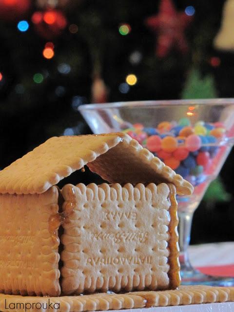 Σπιτάκια από μπισκότα για πάρτι.
