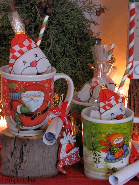 Χριστουγεννιάτικα δωράκια για πάρτι.