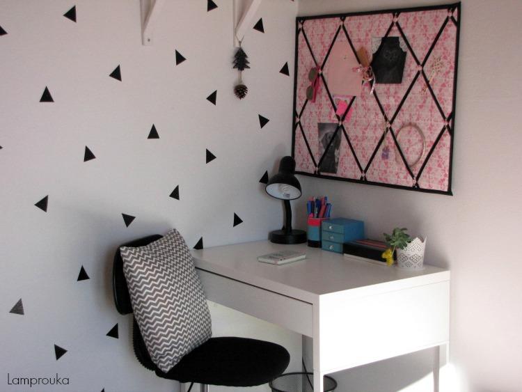 Τριγωνάκια στους τοίχους για μίνιμαλ διακόσμηση
