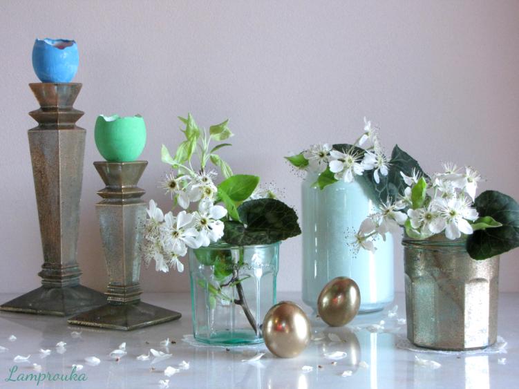 3 ιδέες και οδηγίες για να βάψουμε τα γυάλινα βάζα μας