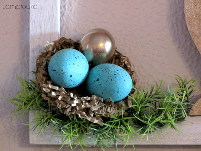 Πασχαλινή διακόσμηση τζακιού και κατασκευές με αυγά