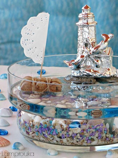 Τα αναμνηστικά του καλοκαιριού σε ένα βάζο ή γυάλα.