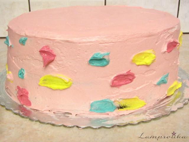 Διακόσμηση τούρτας μονόκερος με κρέμα βουτύρου