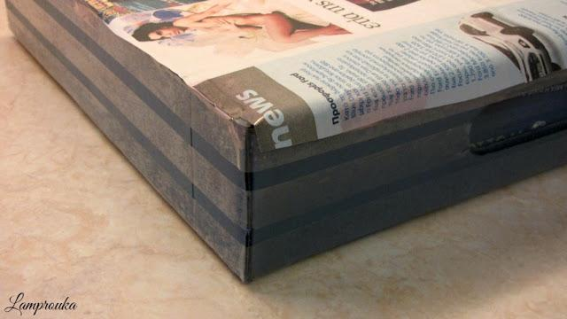 Διακόσμηση χάρτινου δίσκου.