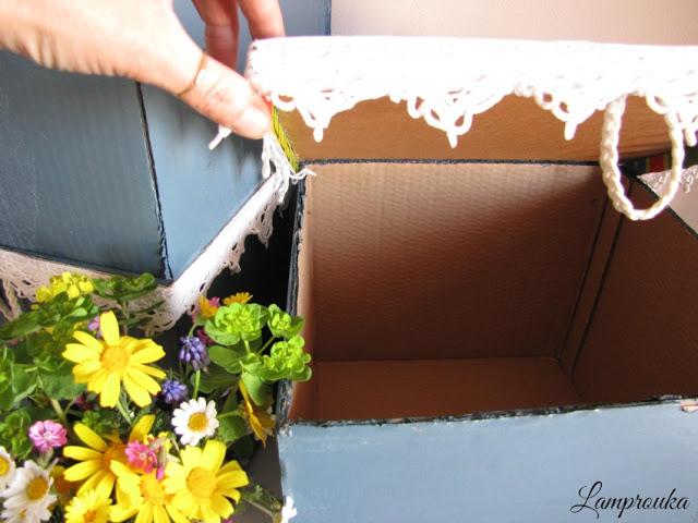 Φτιάξε όμορφα κουτιά αποθήκευσης από απλά χαρτόκουτα για την οργάνωση του σπιτιού σου.