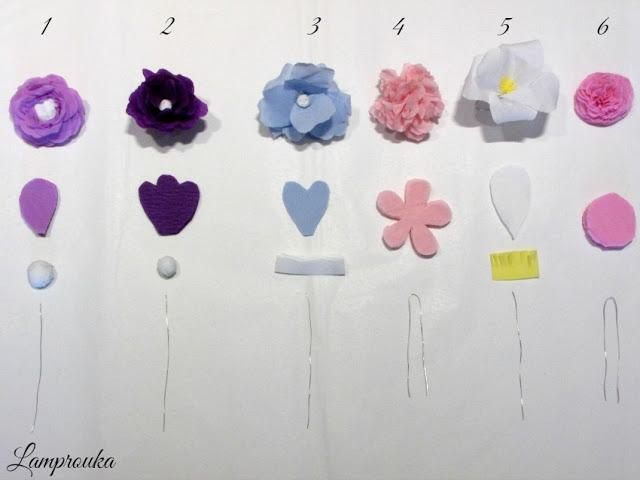 Πως να φτιάξεις χάρτινα λουλούδια.
