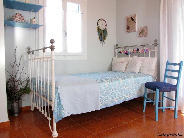 Ανακαίνιση εξοχικού-κρεβατοκάμαρα και διακόσμηση.