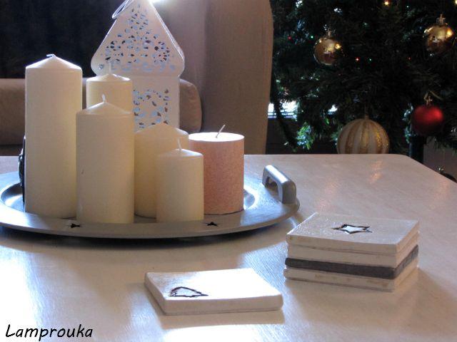 Φτιάξε χριστουγεννιάτικα σουβέρ από τσιμέντο.