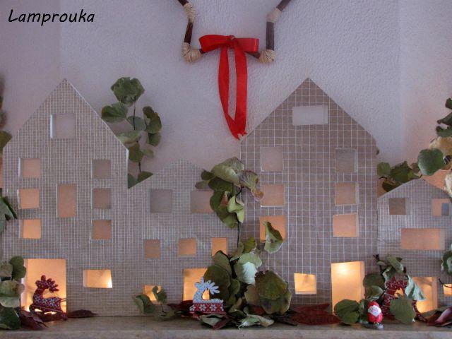 Φτιάξε σπιτάκια για την χριστουγεννιάτικη διακόσμηση του τζακιού σου.