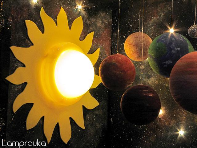 Εργασία για το ηλιακό σύστημα με πλανήτες και φωτισμό.