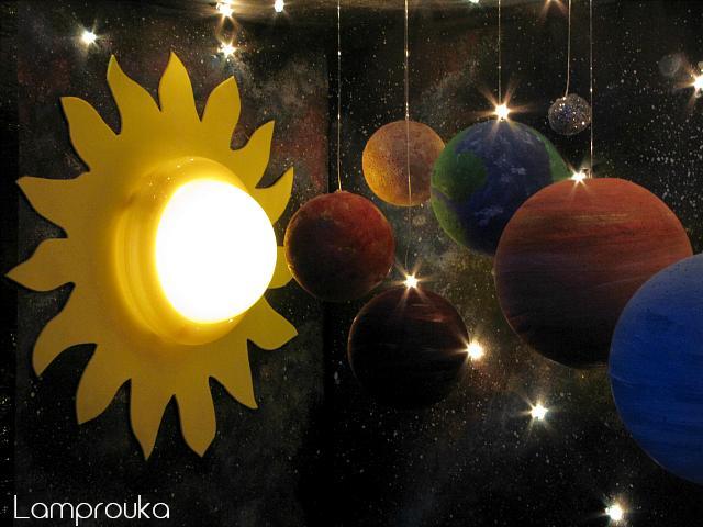 Εργασία για το ηλιακό σύστημα με πλανήτες.