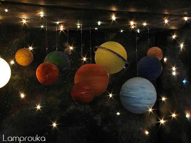 Ηλιακό σύστημα-κατασκευή για παιδιά.